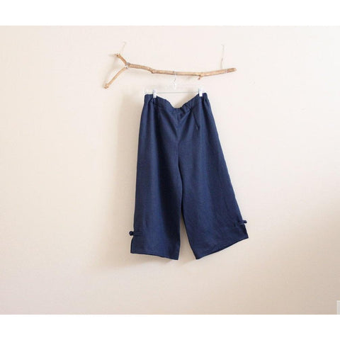 custom linen cropped peasant pants