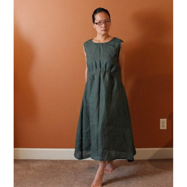 piano fold indie women linen dress made to fit listing