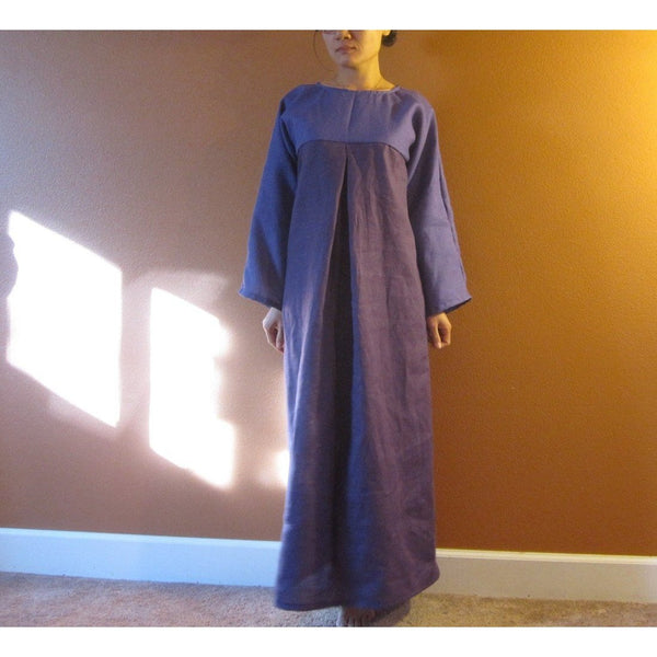 custom linen two shades dolly hanbok inspired dress-linen clothing by anny