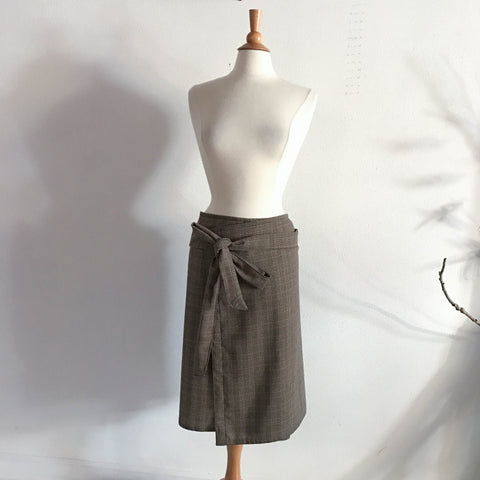 ready to wear light weight wool long straps wrap skirt only one