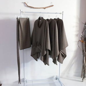 ready to wear light weight wool swallow poncho with big pockets limited edition