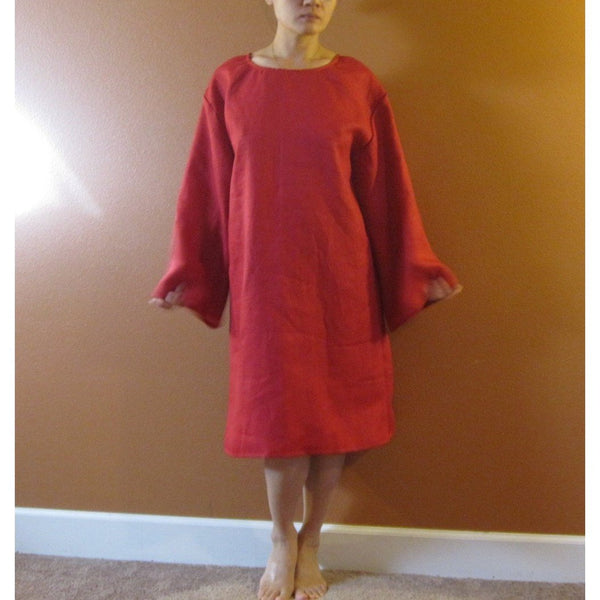 custom pure linen shift dress made to fit listing-linen clothing by anny