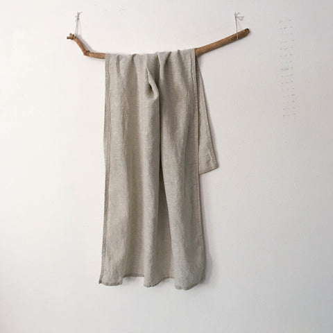 handmade pebble linen bath towel choose your width