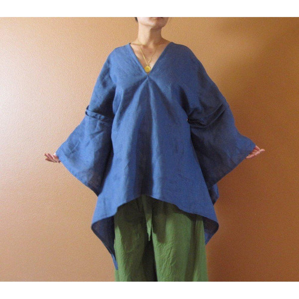 custom fairy sleeve swallow linen blouse top