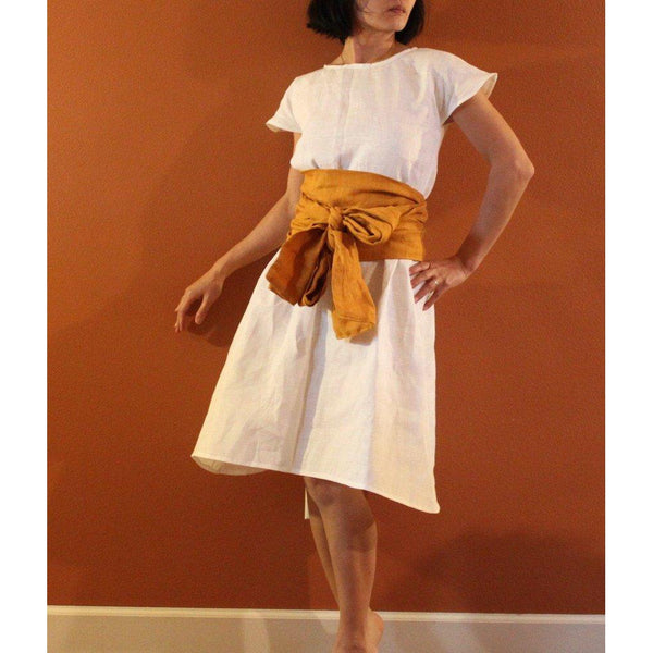 custom linen simplicity obi dress-linen clothing by anny
