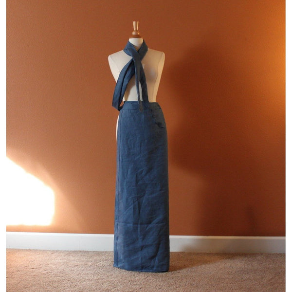 simple linen wrap skirt made to order - linen clothing by anny