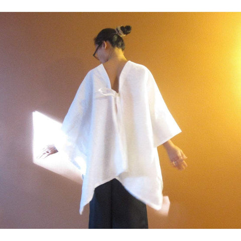 heavy linen origami wrap made to order