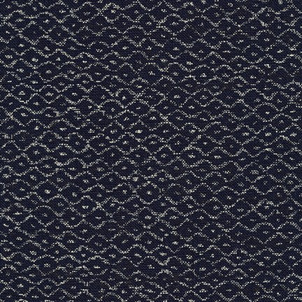 bird eye geo Navy homespun cotton fabric