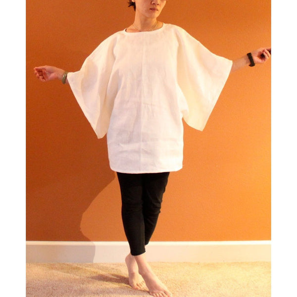 oversize heavy linen wide kimono sleeve top made to fit listing - linen clothing by anny