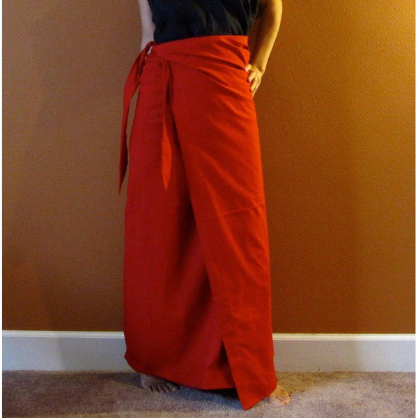 Simple wrap cotton skirt made to order - linen clothing by anny