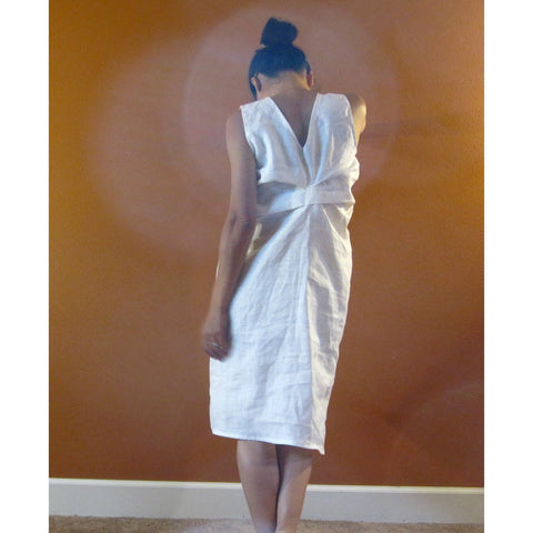 Alternative eco wedding linen bottle fold dress made to measure listing-linen clothing by anny