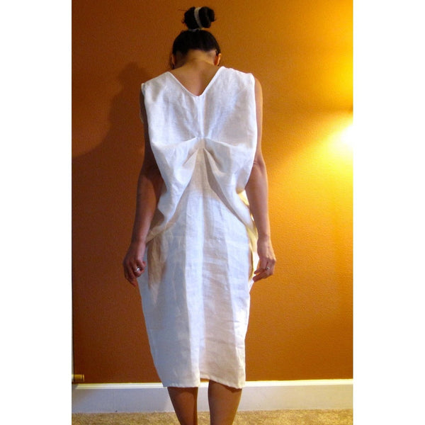 Alternative eco wedding linen bottle fold dress made to measure listing - linen clothing by anny