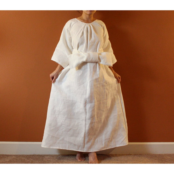 Alternative eco wedding dress custom listing-linen clothing by anny