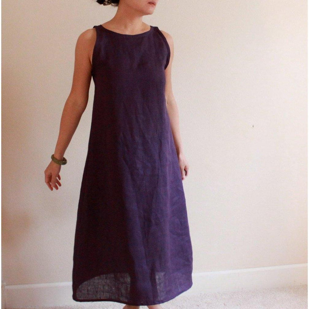 custom slim shoulder linen dress made to fit listing - linen clothing by anny