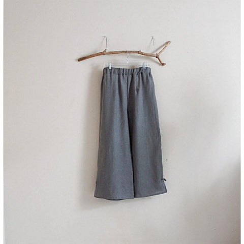 custom linen elastic waist peasant pants-linen clothing by anny