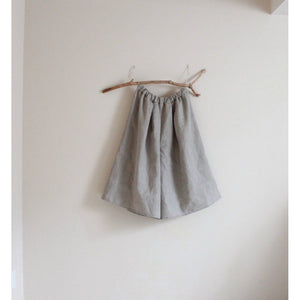 custom linen soft pleats wide leg gaucho pants-linen clothing by anny