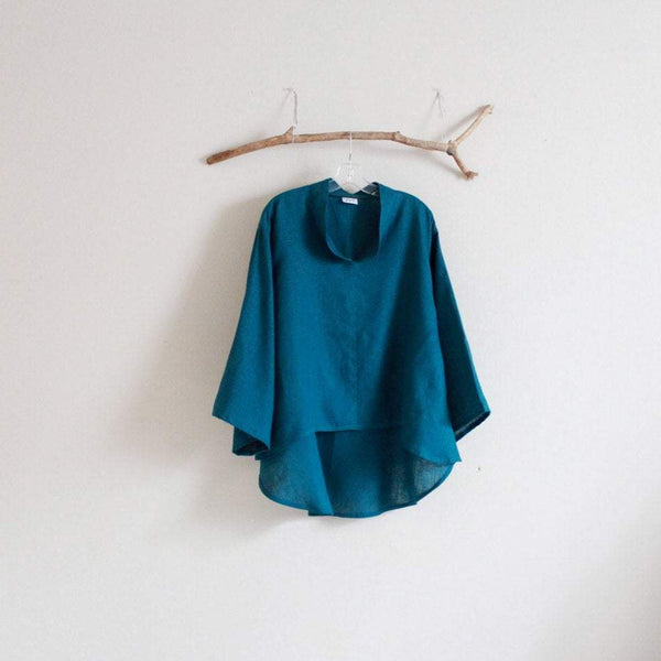 simple linen blouse for all sizes