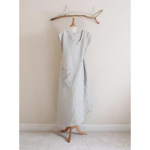 plus size calla lily asymmetrical linen dress-dress-linen clothing by anny