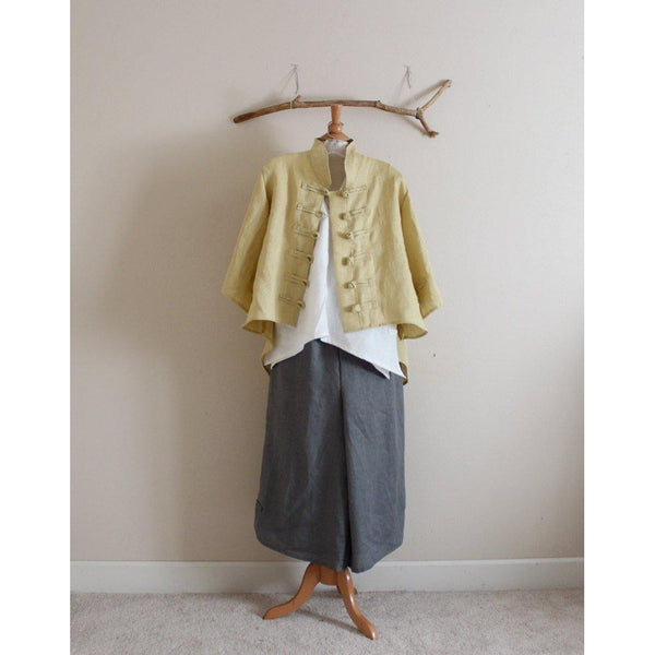 custom sparrow summer linen top-top-linen clothing by anny