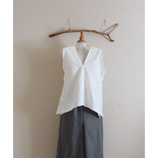 custom sparrow summer linen top - linen clothing by anny