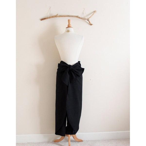 made to order obi waist cotton wrap pants-linen clothing by anny