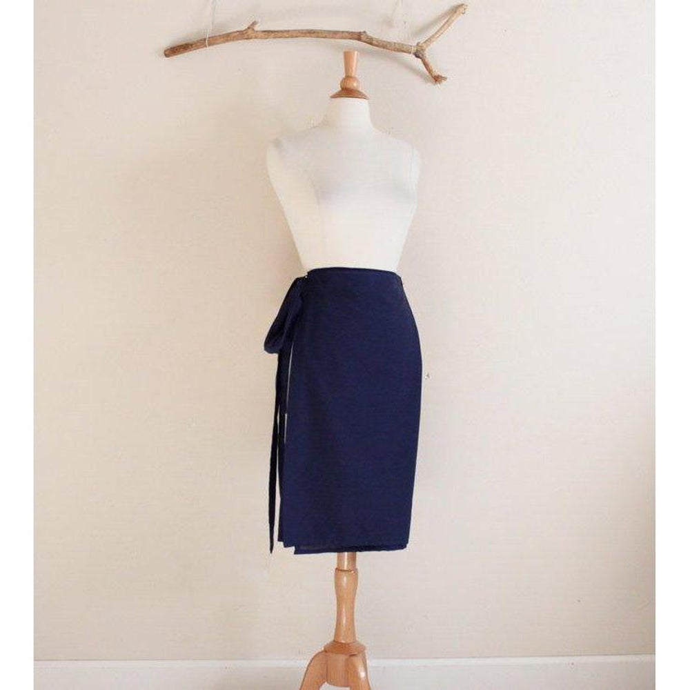 made to order simple wrap cotton skirt - linen clothing by anny