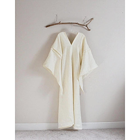 custom eco wedding dress linen flying swallow dress - linen clothing by anny