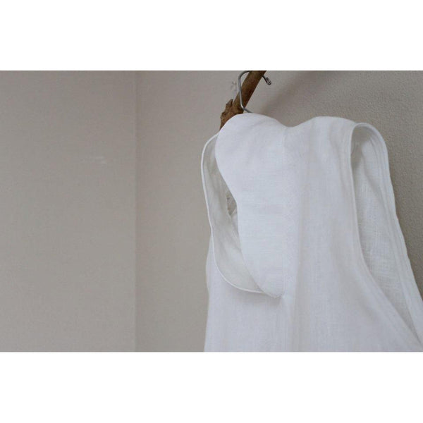 custom cloud chipao collar heavy weight linen tunic - linen clothing by anny