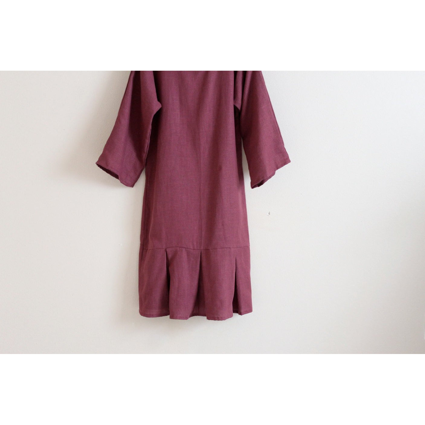 custom kimono sleeve mermaid tail linen dress