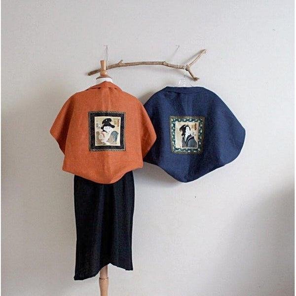 geisha mid weight linen bolero shoulder warmer made to order - linen clothing by anny