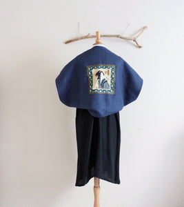 geisha heavy weight linen shawl cape shoulder warmer made to order