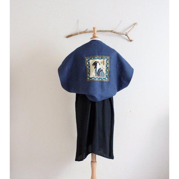 geisha heavy weight linen bolero shoulder warmer made to order