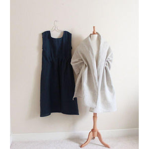 linen outfit Piano fold dress with linen shawl custom listing