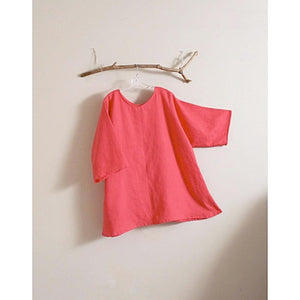 custom plus size linen V neck blouse-top-linen clothing by anny