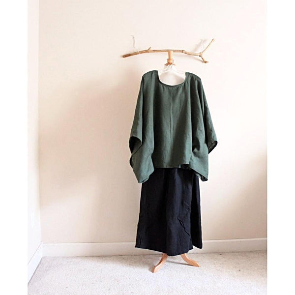 made to order linen kimono top-top-linen clothing by anny