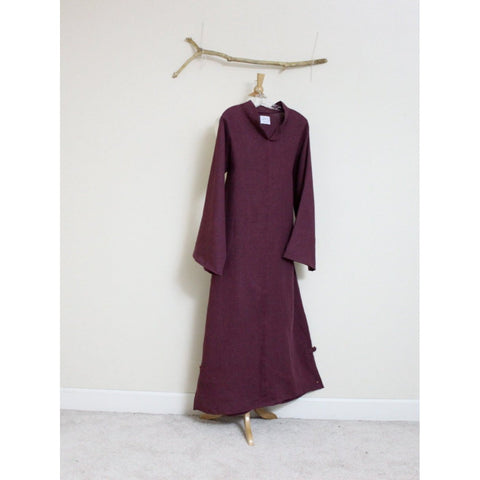 custom linen chipao dress with long sleeves-linen clothing by anny