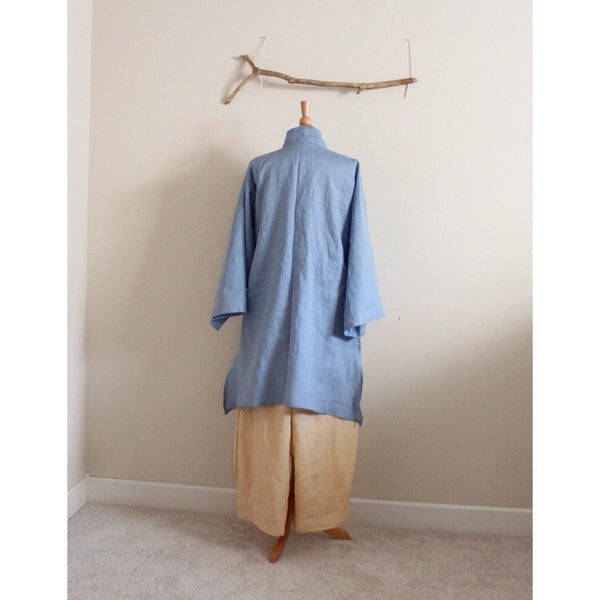 custom summer linen ao dai tunic blouse - linen clothing by anny