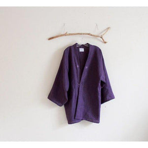 custom heavy linen haori jacket