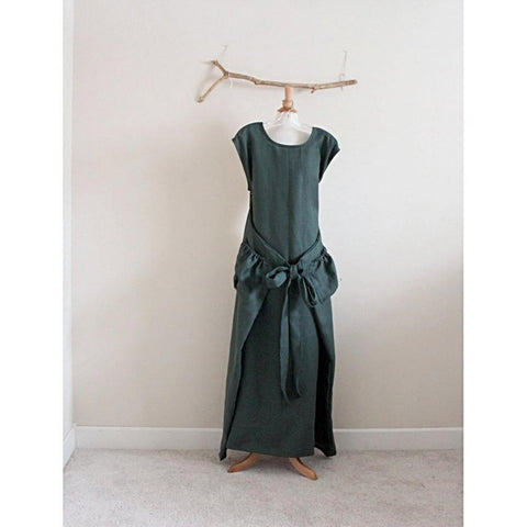 custom sleeveless linen flutter dress - linen clothing by anny