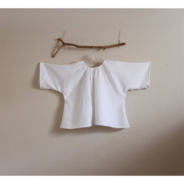 custom comfy pleated linen top