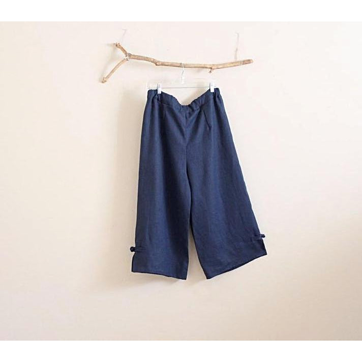 custom linen cropped peasant pants - linen clothing by anny