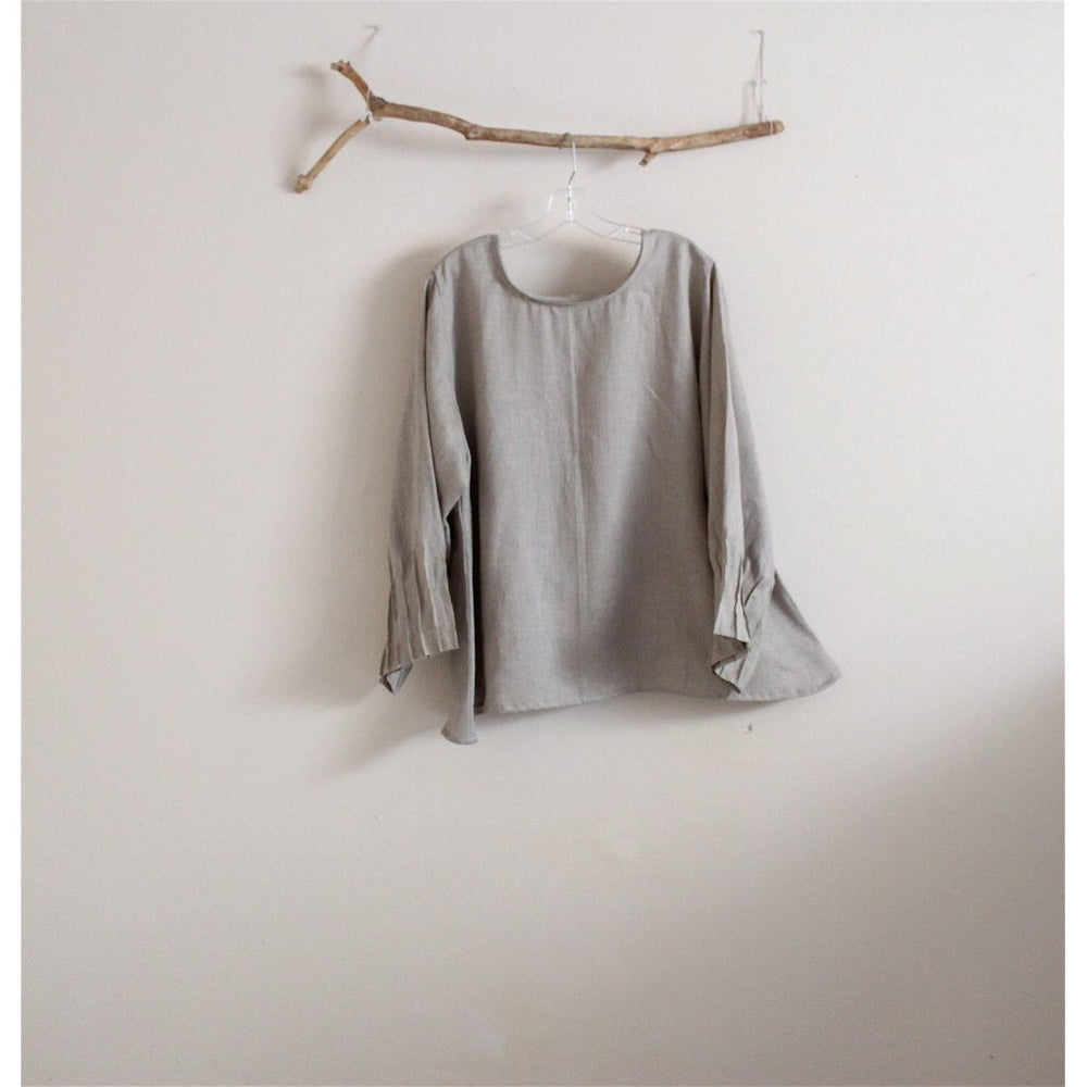 custom light weight linen blouse-blouse-linen clothing by anny