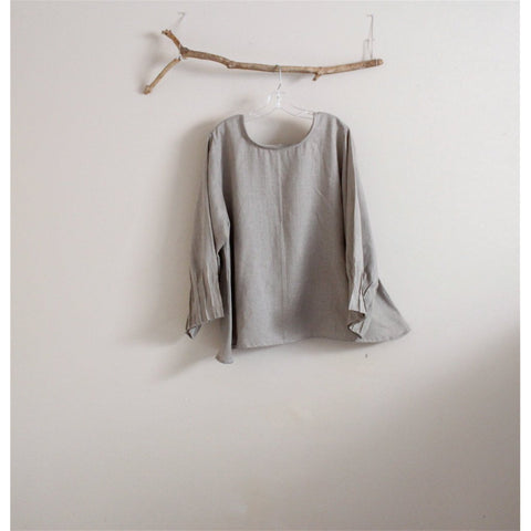 custom light weight linen blouse