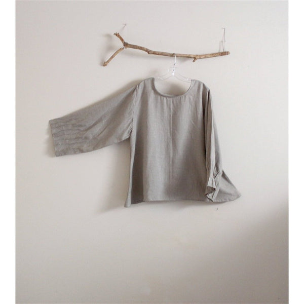 custom light weight linen blouse - linen clothing by anny