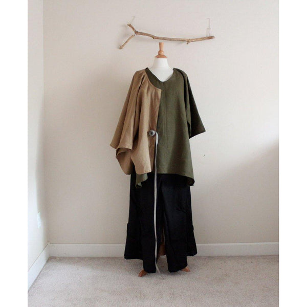 Custom linen jacket ,blouse and pants - linen clothing by anny