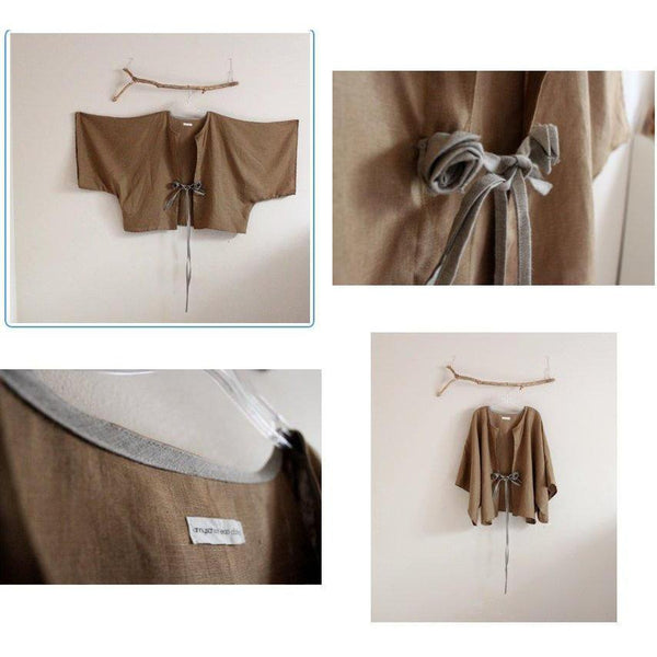 Custom linen jacket ,blouse and pants-outfit-linen clothing by anny