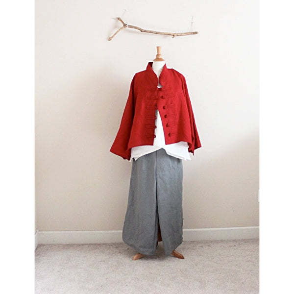 plus size custom linen jacket, top and pants