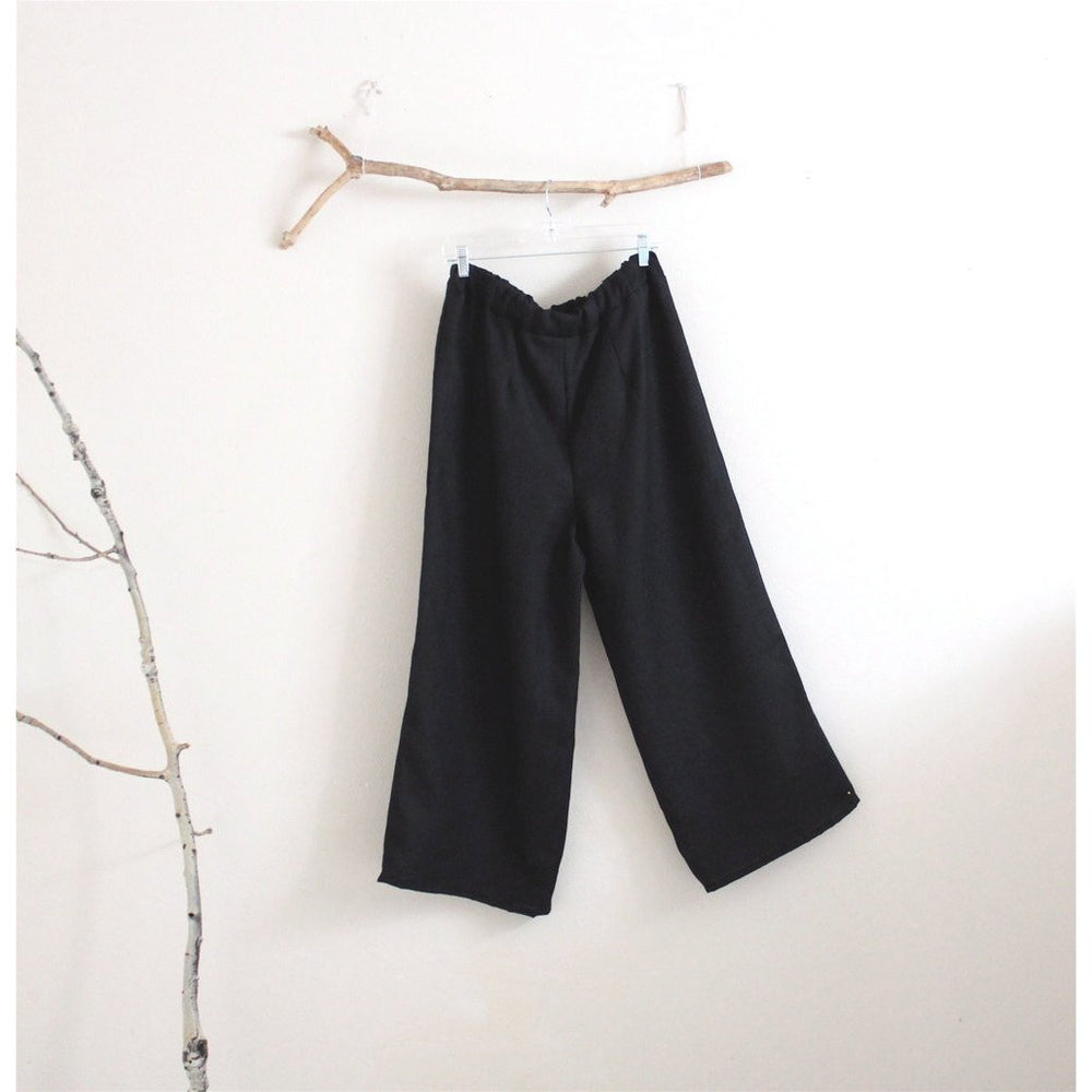 custom heavy linen straight leg linen pants-linen clothing by anny