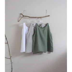 light weight linen camisole top made to order - linen clothing by anny