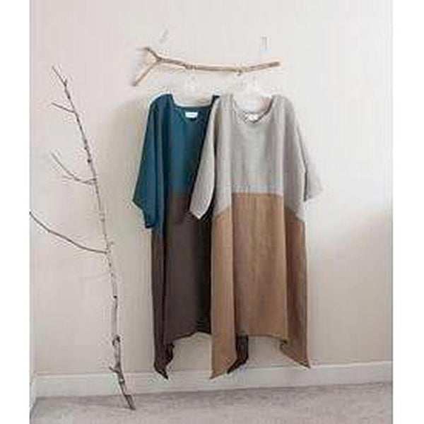 custom two tones linen swallow dress - linen clothing by anny